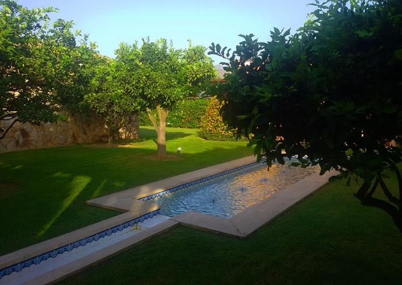 arabian garden at Lantana Resort
